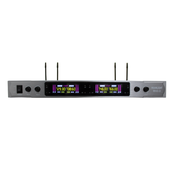 Draadloze 4 Kanaals Microfoonset UHF